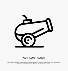 Canon weapon line icon vector