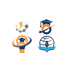 Career coaching education set vector