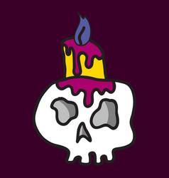 Cartoon skull in style vector