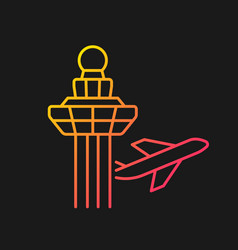 Changi airport control tower gradient icon vector