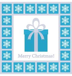christmas card 4 vector image
