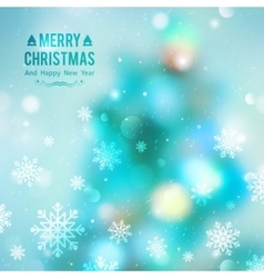 christmas tree blurred vector image