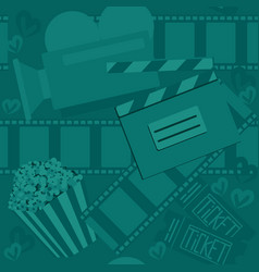 cinema and moviegreen seamless pattern for web vector image