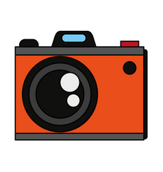 colorful graphic analog camera with flash vector image