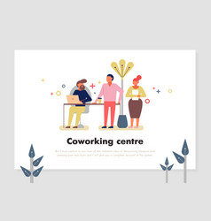 Coworking centre vector