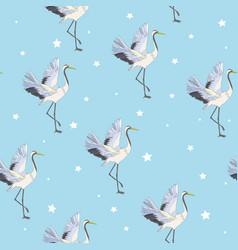 crane pattern vector image