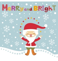 Cute Santa Christmas card vector image