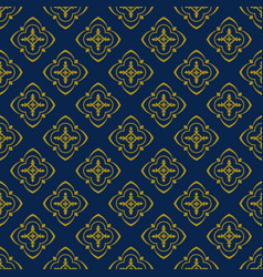 Dark blue background with beautiful golg ornament vector