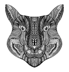 Entangle stylized tiger face vector