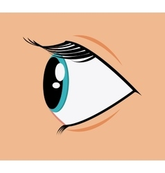 Expressive eyes design vector image
