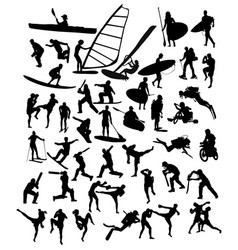 extreme sport silhouettes activity vector image