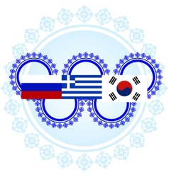 Flags of the Winter Olympics vector image