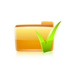 Folder chekmark vector