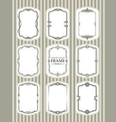 frame design decorate element set 2 vector image
