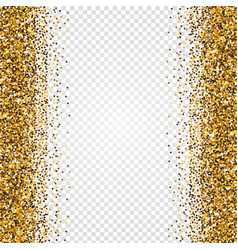 golden glitter abstract background tinsel shiny vector image