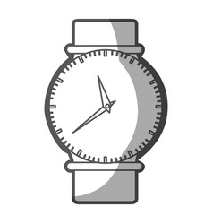 Grayscale silhouette of female wristwatch vector
