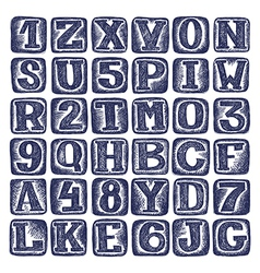 hand draw sketch doodle alphabet design vector image