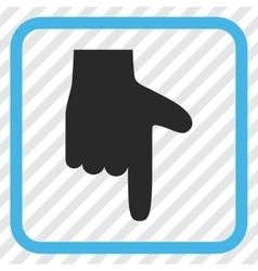 Hand Pointer Down Icon In a Frame vector