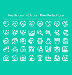 health line icon vector image