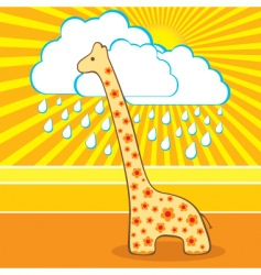 illustration of the cute giraffe vector image