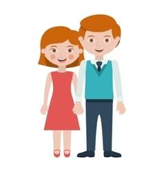 Isolated couple cartoon design vector