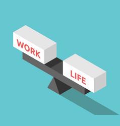 Isometric work life balance vector