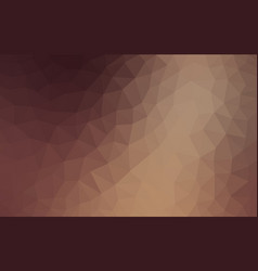 light brown low poly background abstract crystal vector image