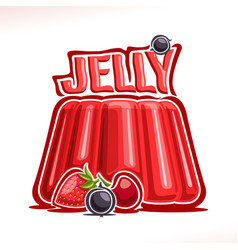 Logo for strawberry jelly vector