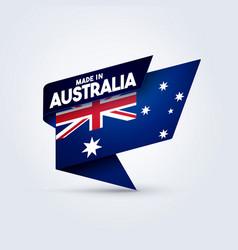 made in australia flag vector image