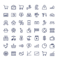 Market icons vector