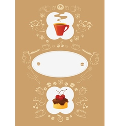 menu card template vector image