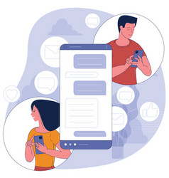 Mobile chat concept vector