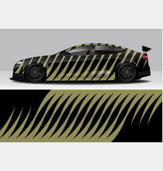 modern sporty abstract car wrap auto sticker vector image