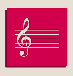 Music violin clef sign g-clef grayscale vector