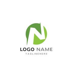 N letter logo business vector