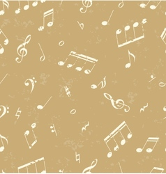 Pattern with music symbols vector