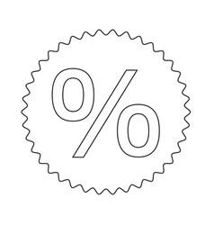 percent symbol icon design vector image