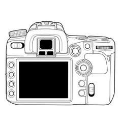 Photo camera draw vector