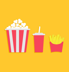 popcorn french fries potato in a paper wrapper vector image