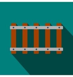 Railroad flat icon vector image