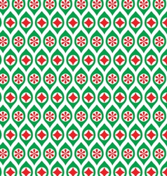 Red and green ornaments vector