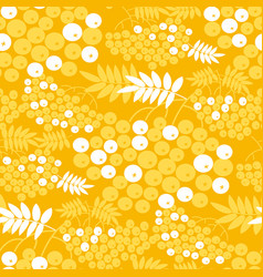 rowan branches seamless pattern vector image