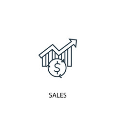 Sales concept line icon simple element vector