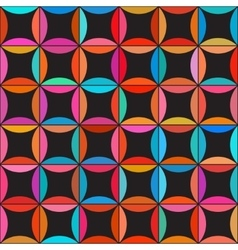 Seamless Colorful Circle Star Quilt Tiling vector image