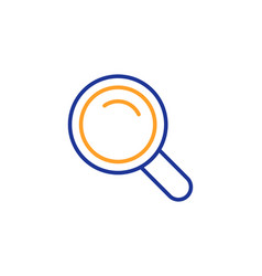 search line icon magnifying glass sign vector image