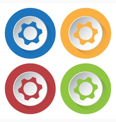 Set of four icons - nut vector