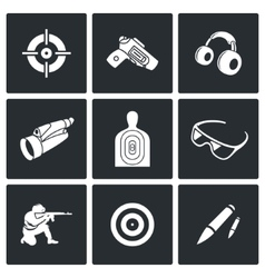 Shooting gallery icons vector image