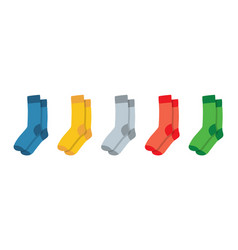Socks for adults and children colorful rainbow vector