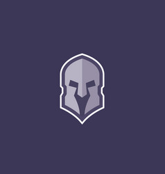 Spartan helmet logo for gym sport team vector
