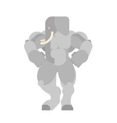 Strong elephant powerful bishop animal vector